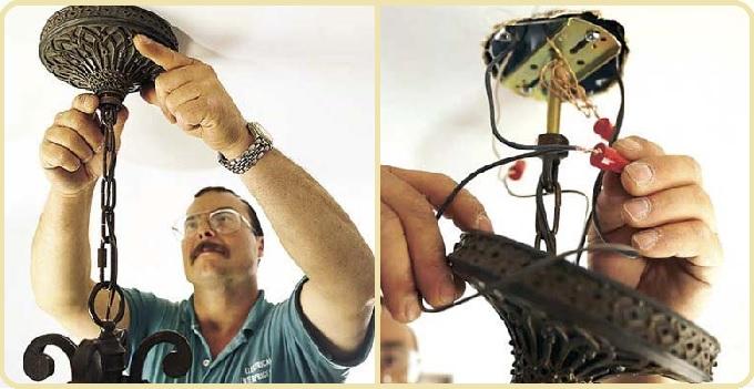 Как повесить люстру на бетонный потолок, Все о ремонте и строительстве, домов, квартир